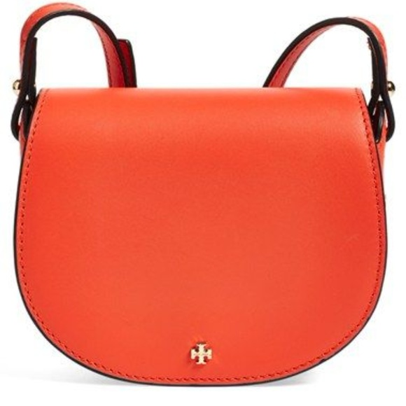 Tory Burch Handbags - Tory Burch 'mini' coral leather saddle bag
